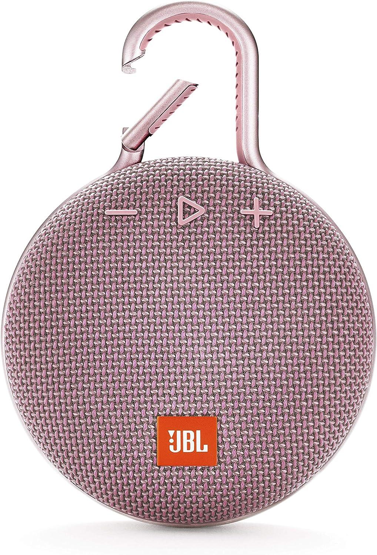 JBL Clip 3 Altavoz inalámbrico portátil con Bluetooth - Parlante resistente al agua (IPX7) - 10h de música continua - Rosa