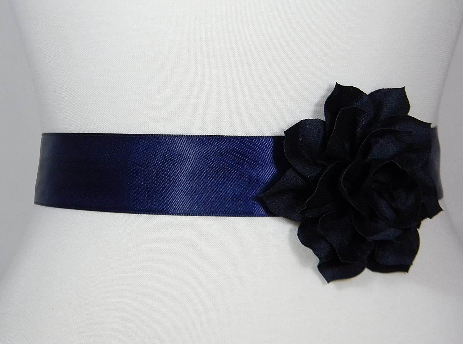 Navy Blue Bridal Sash, Wedding Belt, Bridal Belt, Flower Girl Dress Sash, Bridesmaid Belt, Satin Sash, Wedding Dress Belt, Simple Sash POSY