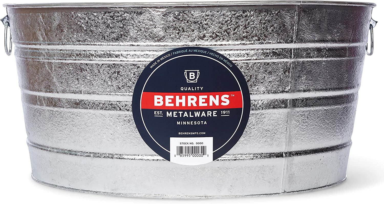Behrens 3 17 Gallon Round Hot Dipped Steel Tub