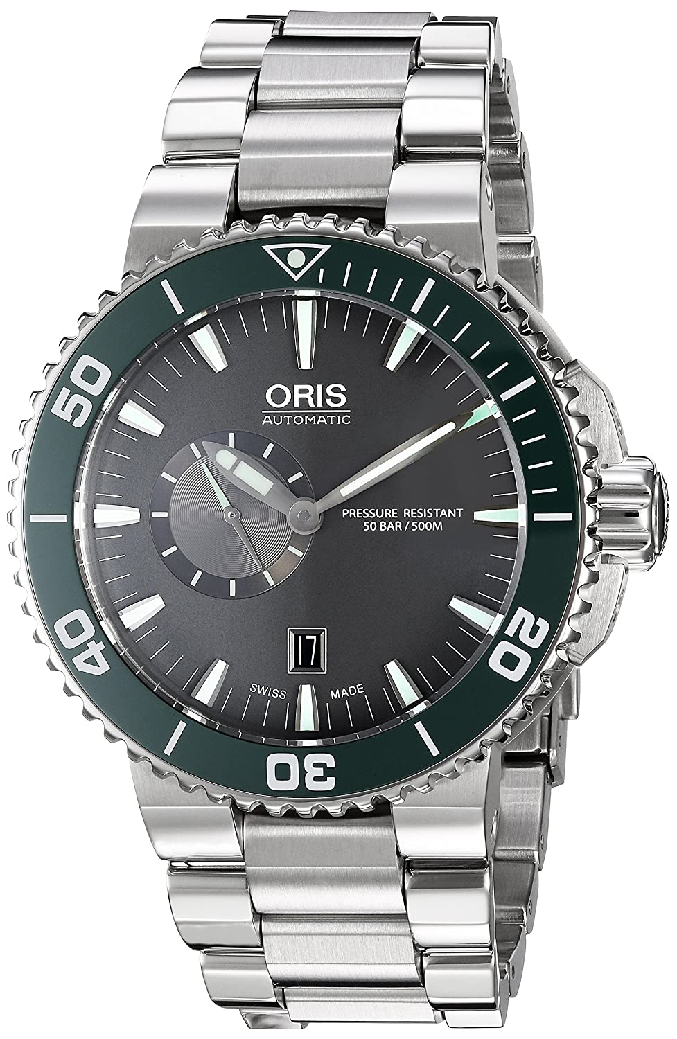 Oris Men s Aquis Swiss Automatic Stainless Steel Dress Watch, Color Silver-Toned Model 74376734137MB