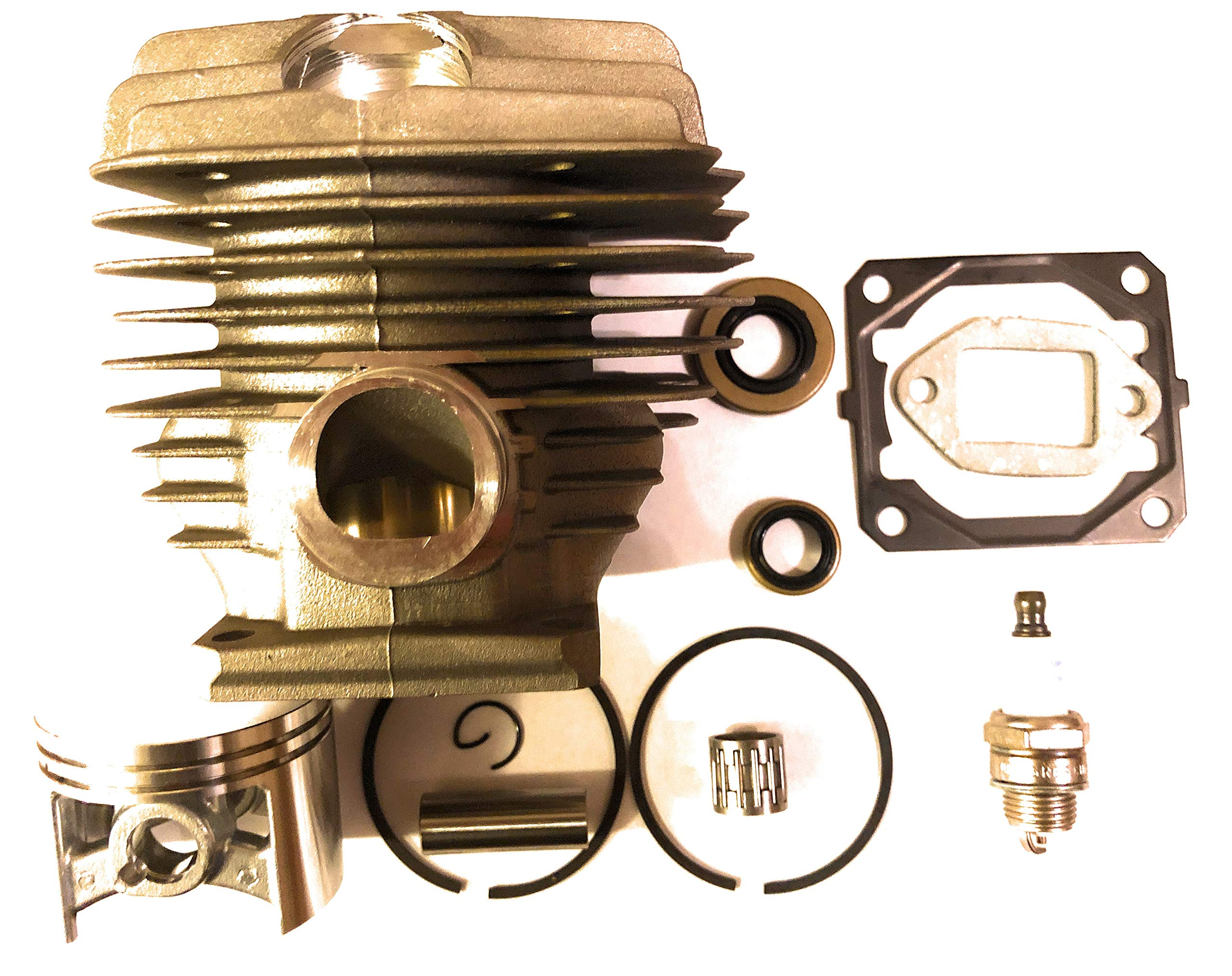 Stihl 046, 046 Magnum, MS460,Piston & Cylinder Kit 52mm with Gaskets,Bearing,Seals, And Spark Plug Replaces Stihl # 1128-020-1217 2 DAY STANDARD SHIPPING TO US Installation Instructions Included