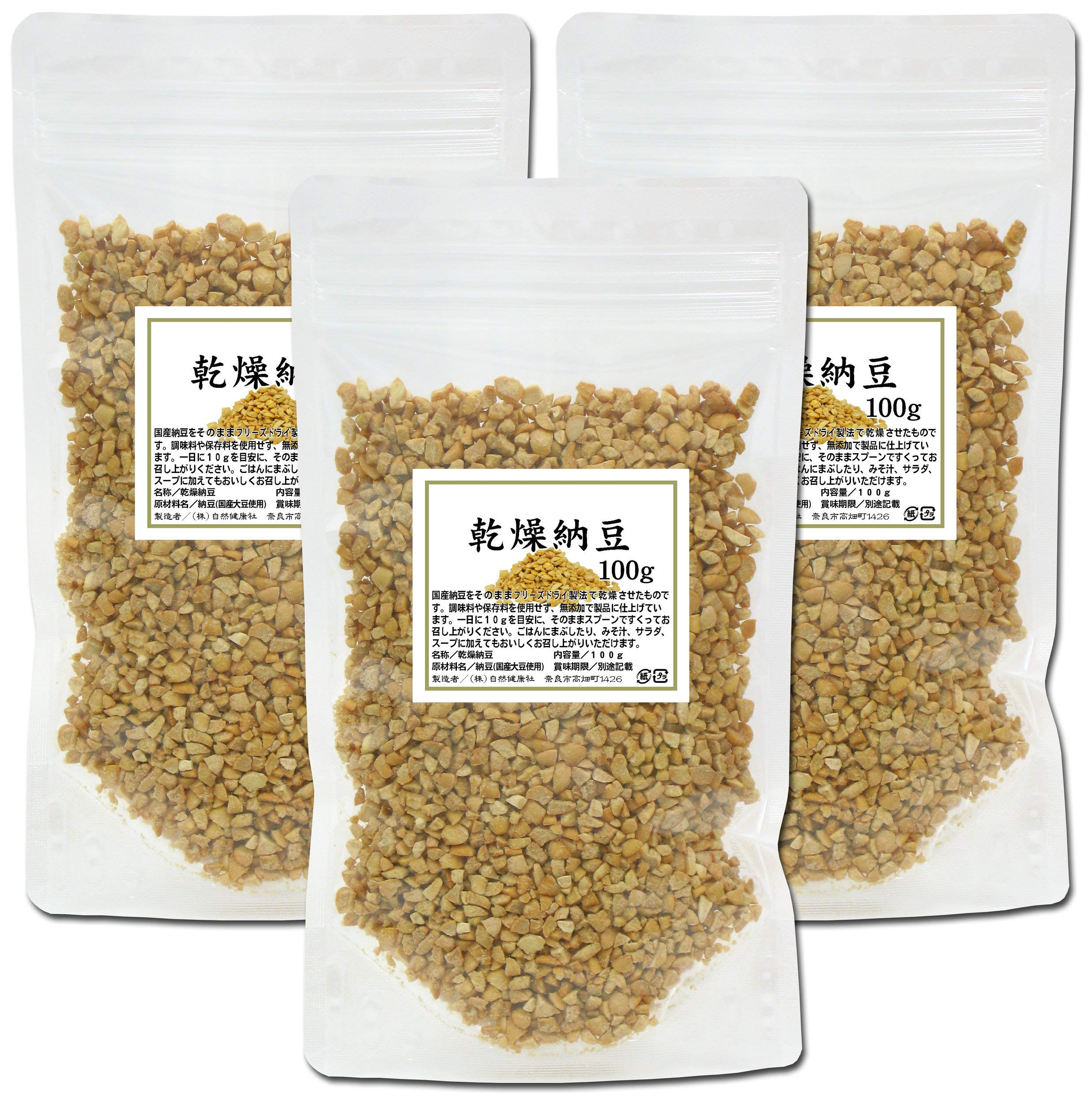 Natural Health Company Dried natto 100g x 3 bags Bag with chuck included [Japan Import]