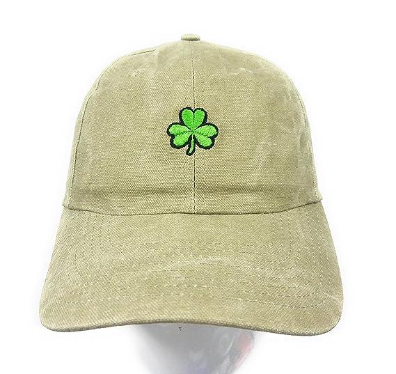 7c913474723ce Essencial Caps Shamrock Baseball Cap Emboidered Khaki at Amazon Men s  Clothing store