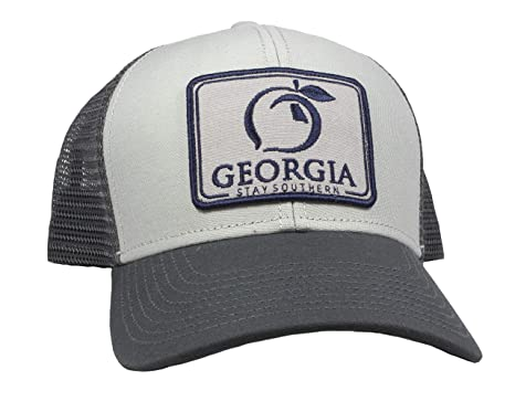 4a42c9d1665df9 Peach State Pride Georgia Patch Trucker Hat at Amazon Men's Clothing ...