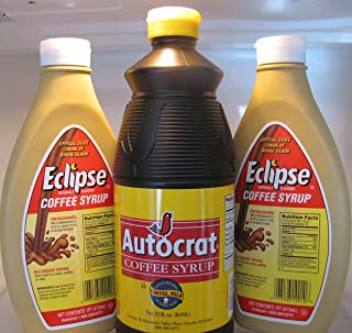 product image for Autocrat and Eclipse Coffee Syrup Bundle (1 Autocrat Coffee Syrup 32 Oz and 2 Eclipse Coffee Syrup 16 Oz)