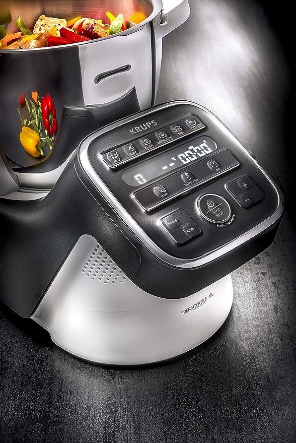 Krups HP50A8 Prep&Cook XL - Robot de cocina multifunción, 1550, acero inoxidable, 3 litros, color blanco y negro: Amazon.es: Hogar