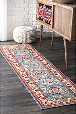 Amazon Com Ottomanson Grey Runner Area Rug 5 3 Quot X7 0