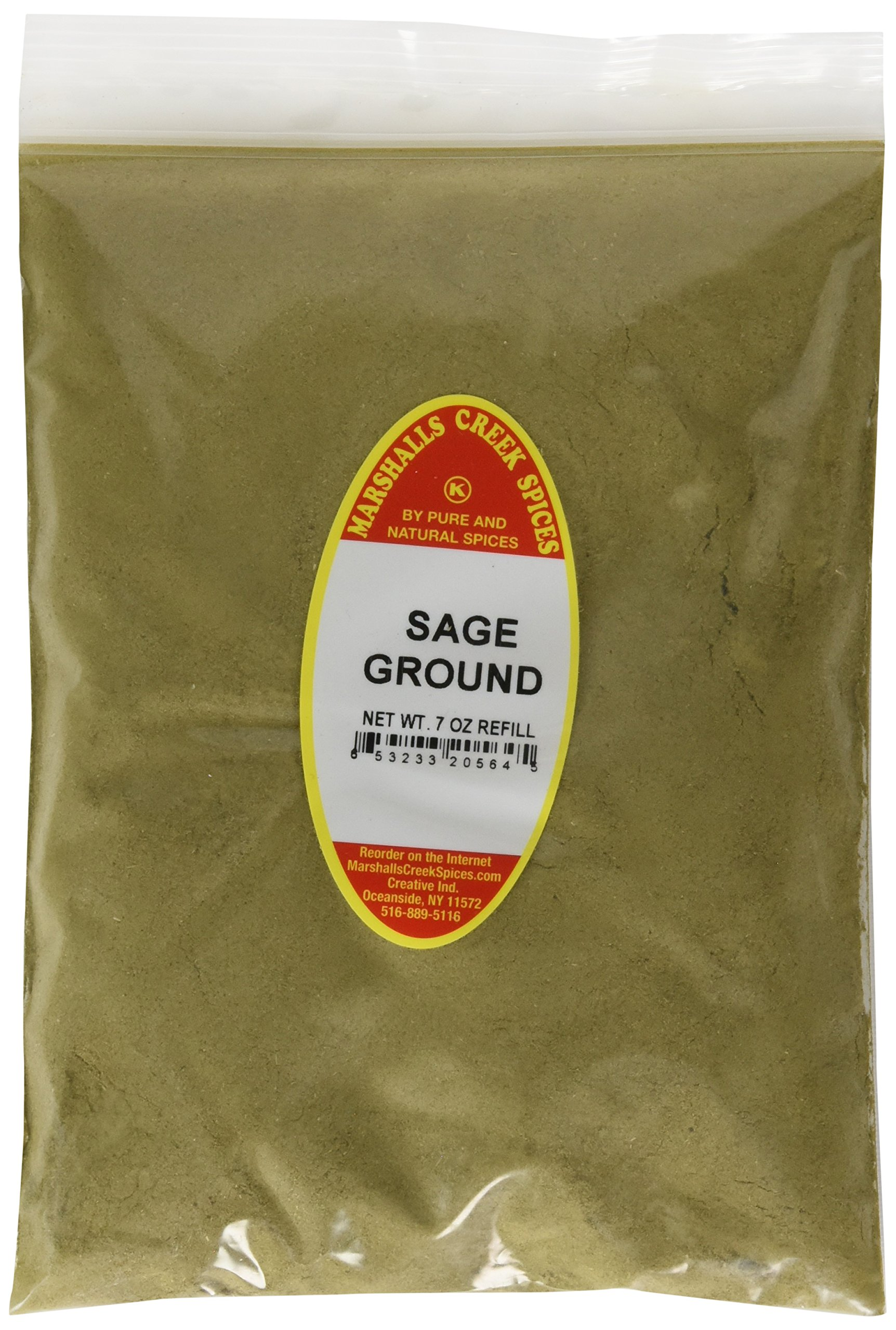 Marshalls Creek Spices Kosher Sage Ground Refill, 7 Ounce