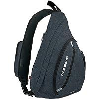 Versatile Canvas Sling Bag / Urban Travel Backpack Black | Wear Over Shoulder or Crossbody for Men & Women by NeatPack