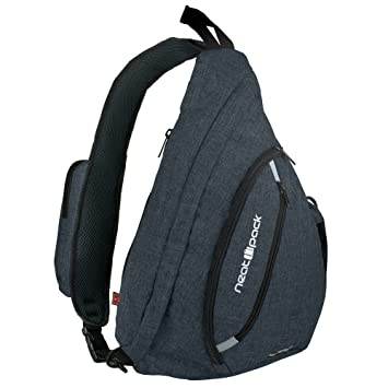 8dc1394e2 Amazon.com | Versatile Canvas Sling Bag/Urban Travel Backpack, Black | Wear  Over Shoulder or Crossbody for Men & Women, by NeatPack | Casual Daypacks