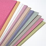 A4 Recycled Ten Pastel Colour Sugar Paper 100gsm 50 sheets by BCreative ®