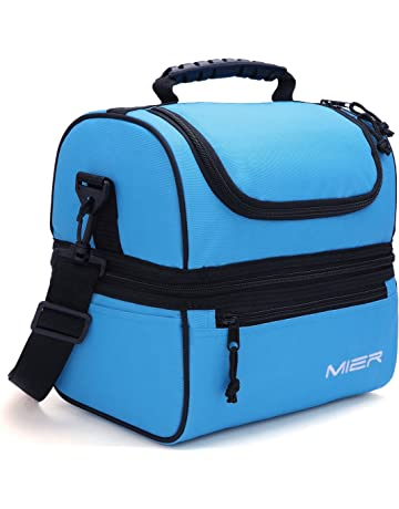 0d1eeccad4c4 MIER Adult Lunch Box Blue Insulated Lunch Bag Large Cooler Tote Bag for  Men