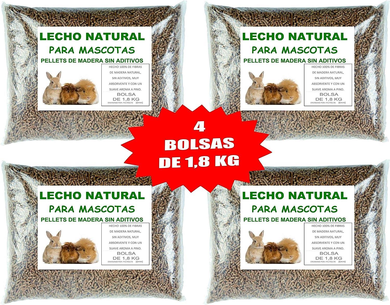 pellet para estufa 15kg de madera reciclada y biomasa gatos y m/ás mascotas FlashPrix para lecho de conejos
