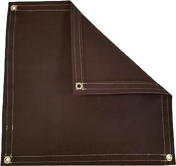 6 x 8 16 oz Canvas Tarp Brown 3 Piece Set