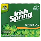 Irish Spring Original Deodorant Bar Soap,3.75 Ounce,12 Count
