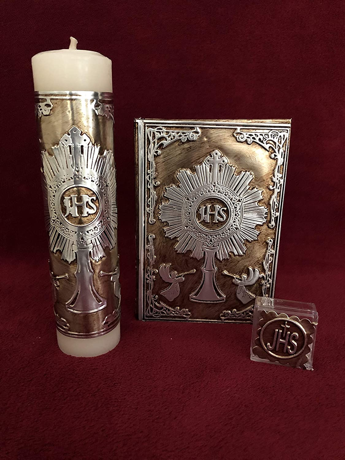 First Holy Communion Laminated Chalice With Angels/Estuche Para Primera Comunión