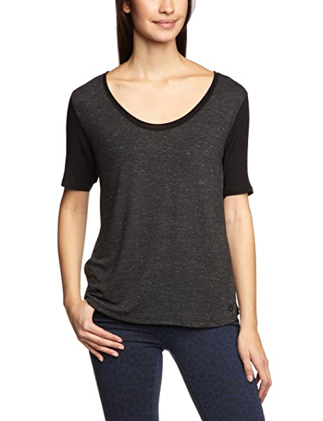 Lee - Camiseta de manga corta para mujer, talla 34/36, color negro
