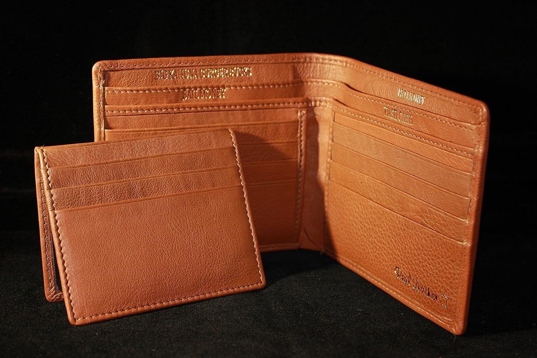 Bad Mother Fucker billetera / cartera de cuero canela / marrón claro - Tan Embroidered 100% Leather Wallet: Amazon.es: Equipaje