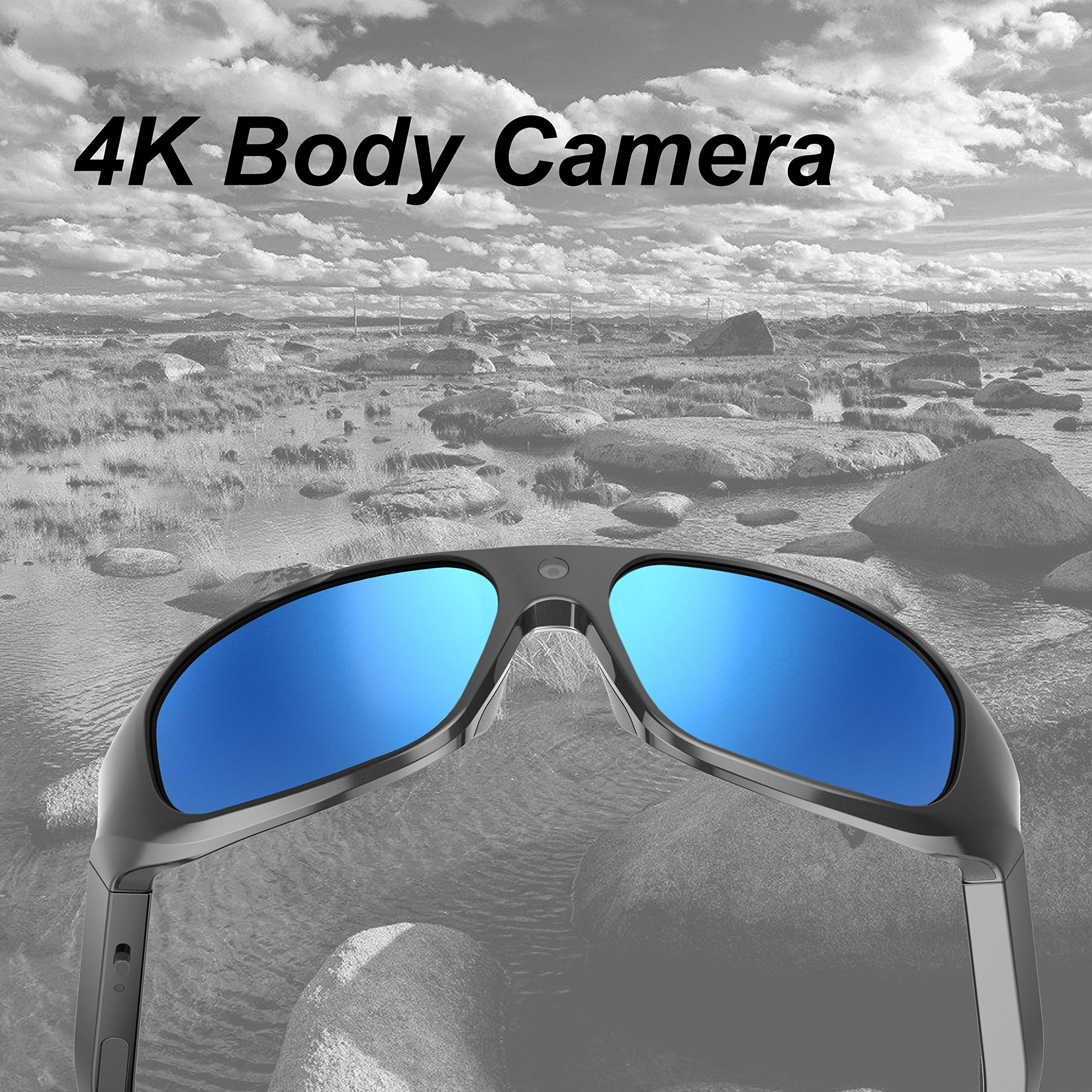 OHO 4K Ultra HD Waterproof Video Sunglasses, Sports Action Camera with Built-in 128GB Memory and Polarized UV400 Protection Safety Lenses,Unisex Sport Design by OhO sunshine