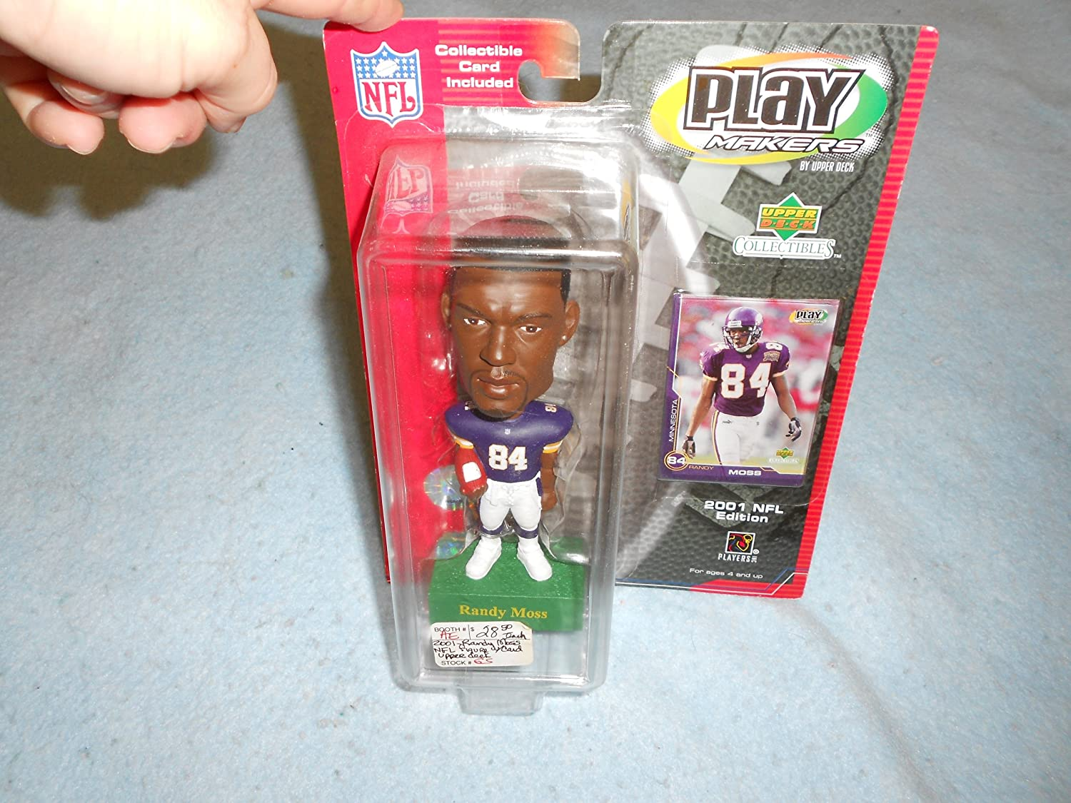 Randy Moss Play Makers Bobble Head 2001 NFL Edition Minnesota