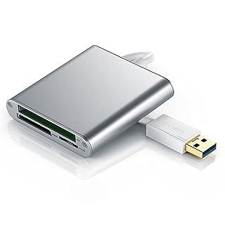 CSL - USB 3.0 Multilector de tarjetas | Lector externo de tarjetas superrápido | máx. 5 Gbit/s | Lectura paralela de varias tarjetas de memoria | Plug & Play | MAC y PC | aluminio