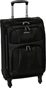 Samsonite Aspire Xlite Softside Expandable Luggage with Spinner Wheels, Black, Carry-On 20-Inch