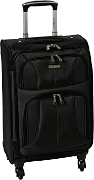 Aspire Xlite Softside Expandable Luggage with Spinner Wheels, Black, Carry-On 20-Inch