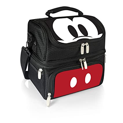 396db1016c1 Amazon.com  Disney Classics Mickey Mouse Pranzo Insulated Lunch Tote with  Service for One  Kitchen   Dining