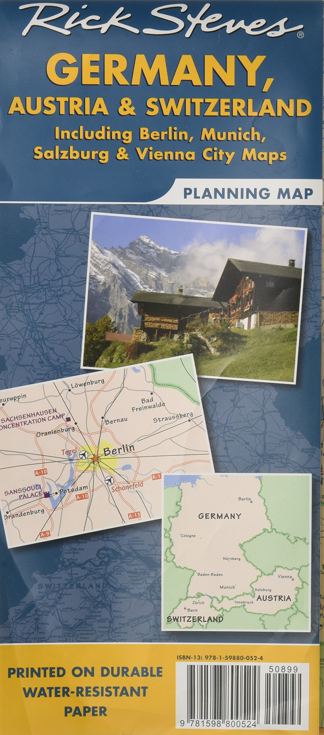 Rick Steves Germany, Austria & Switzerland Planning Map: Including ...