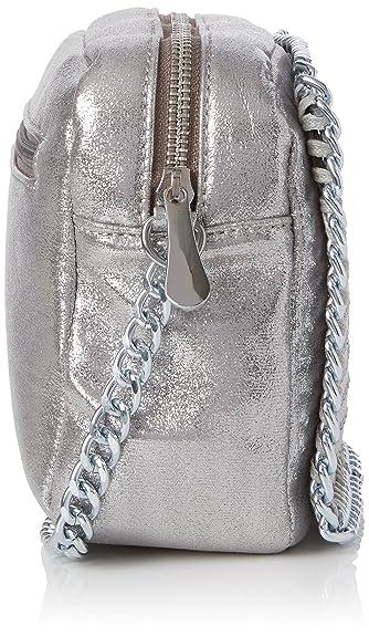Swankyswans Zara Stud Chain Camera, Sacs bandoulière femme, Silver, 8.3x15.2x22 cm (W x H L)