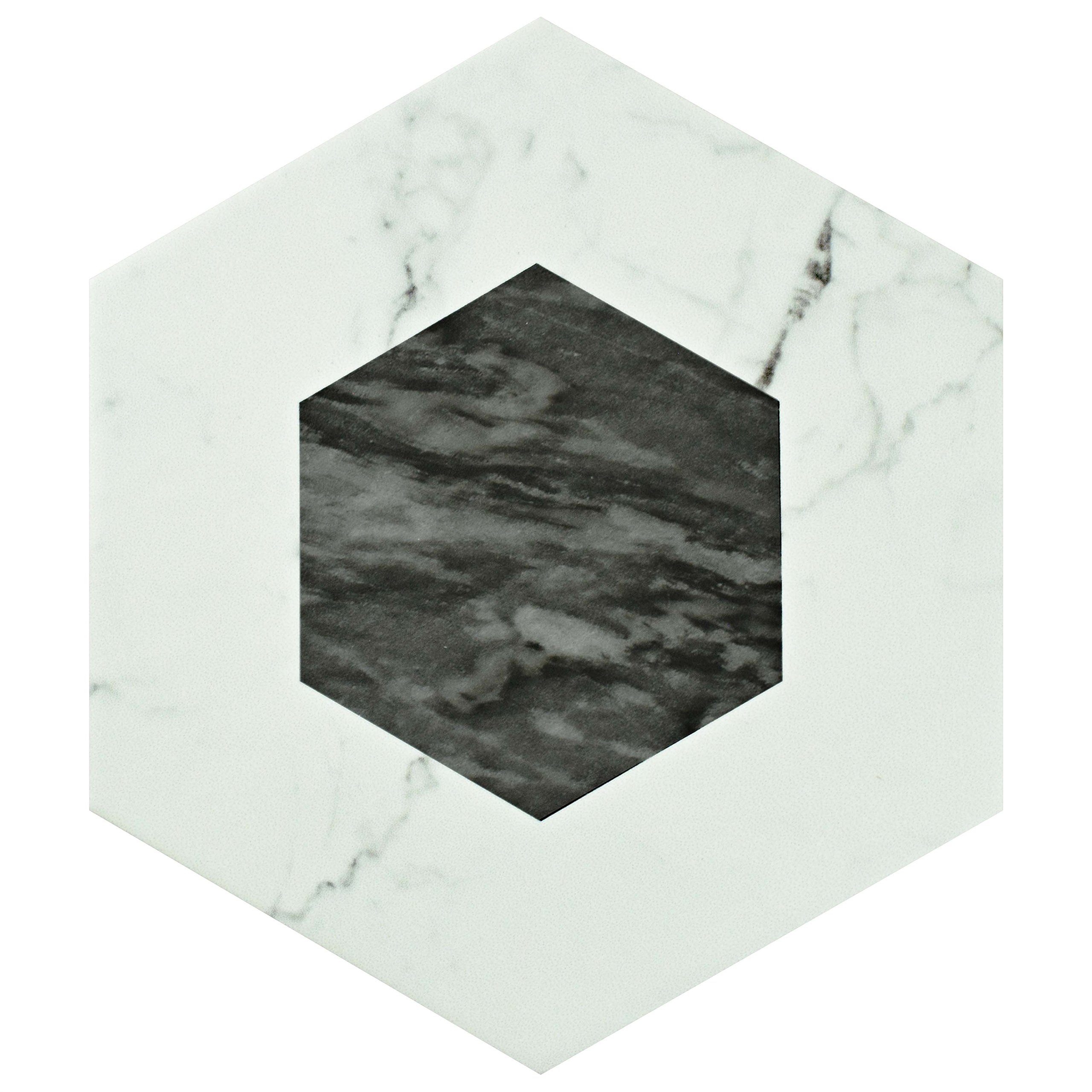 SomerTile FEQ8BXG Murmur Bardiglio Hexagon Porcelain Floor and Wall Tile, 7'' x 8'', Geo by SOMERTILE (Image #6)