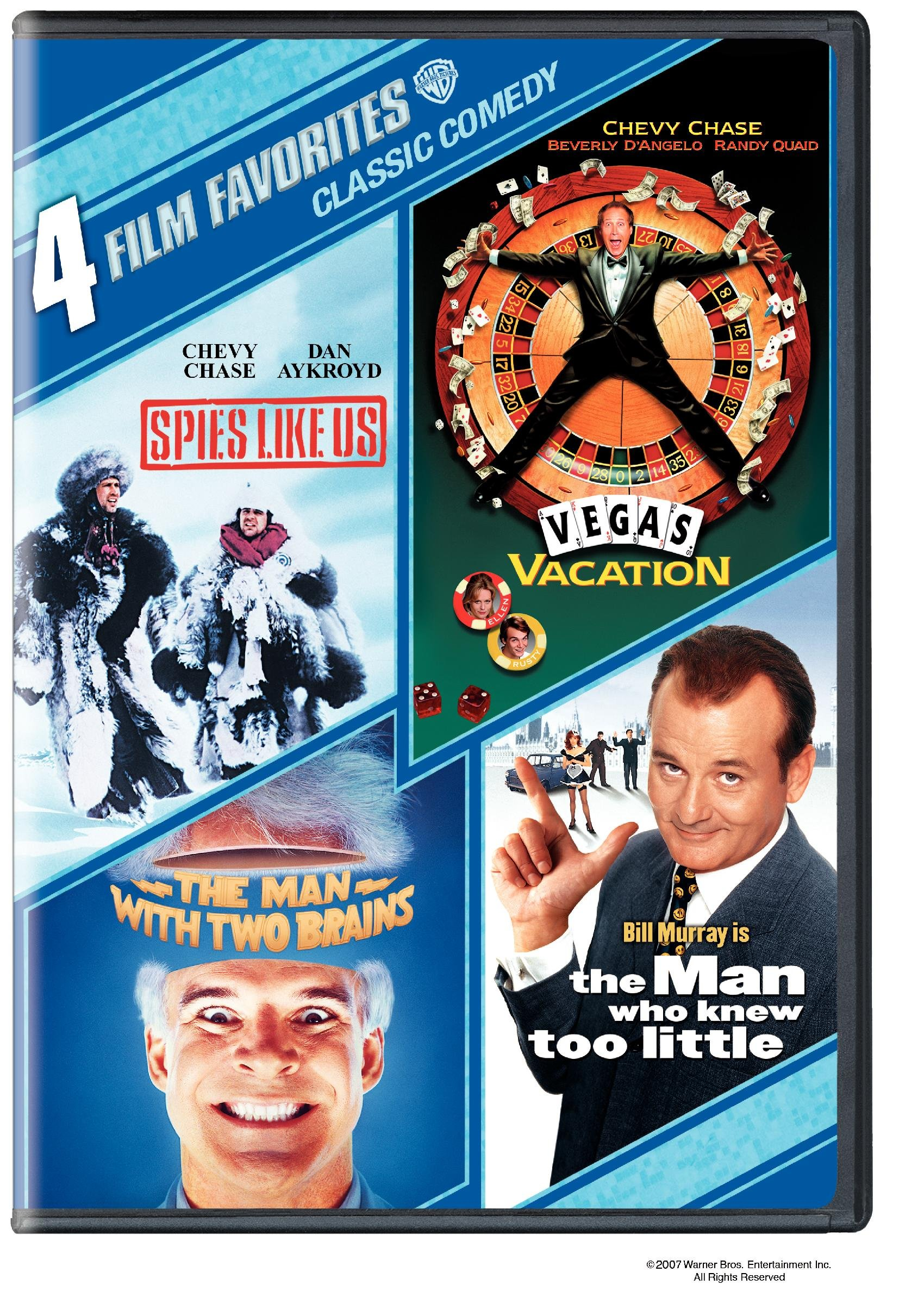 Vegas Vacation Dvd Special Features: 4 Film Favorites: Classic Comedies (The Man Who Knew Too