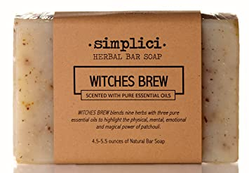 SIMPLICI Witches Brew Natural Patchouli Bar Soap (scented with pure  essential oils)