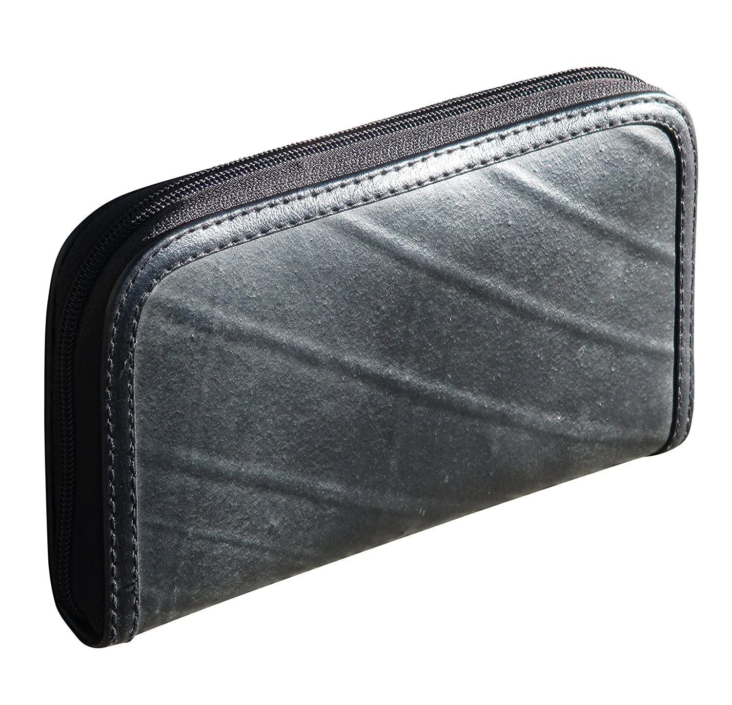 Medium zip wallet using inner tube - FREE SHIPPING, upcycled style eco friendly vegan repurposed salvaged reclaimed recycled bag purse clutch wallets gift for cyclist innertube tutes bike tire rubber