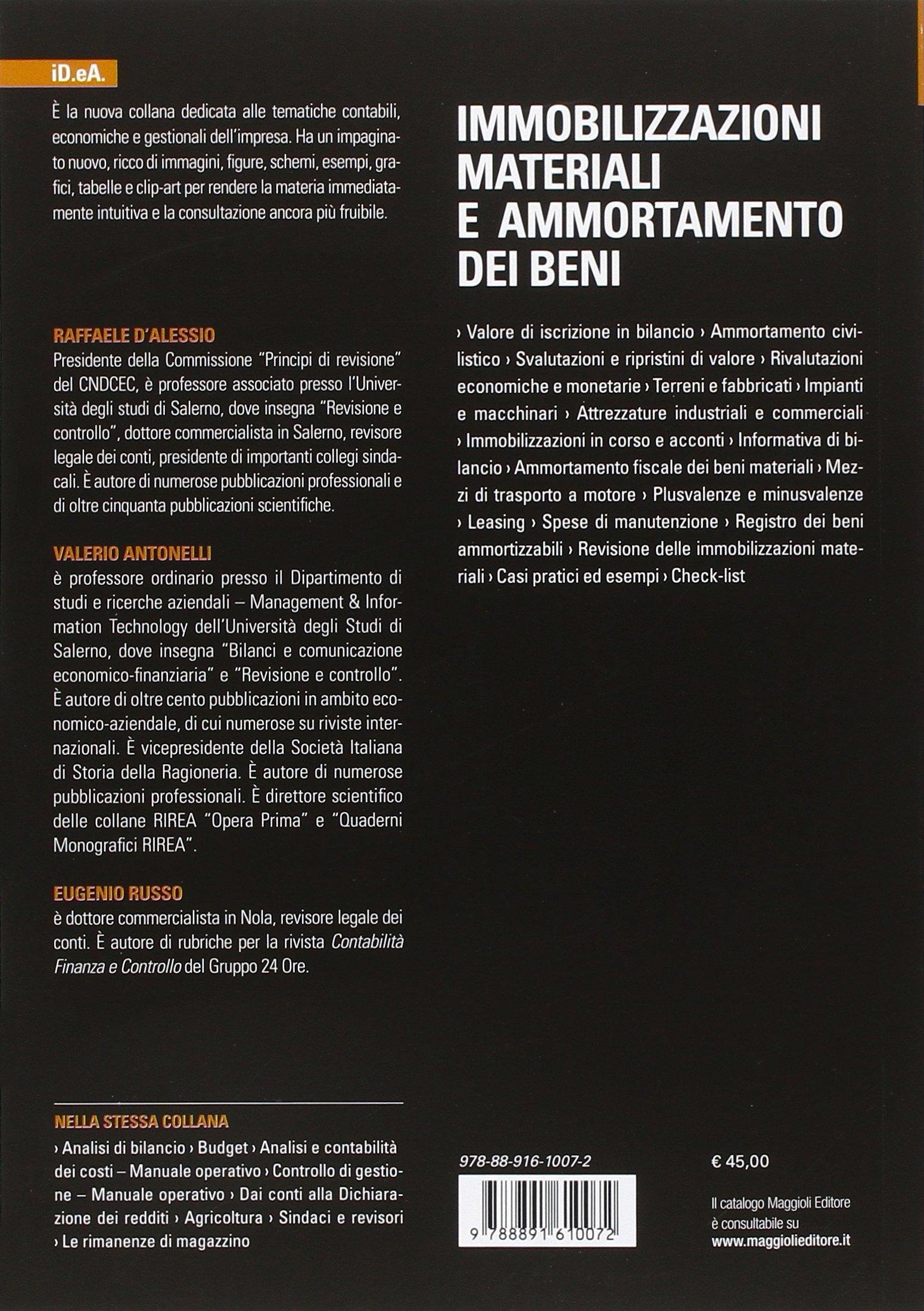 Rattan Di Russo Eugenio.Amazon It Immobilizzazioni Materiali E Ammortamento Dei Beni