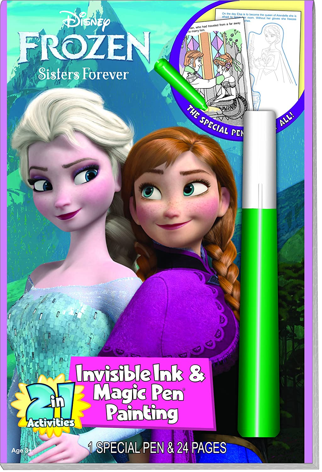 lee publications disneys frozen invisible ink coloring book - Imagine Ink Coloring Book