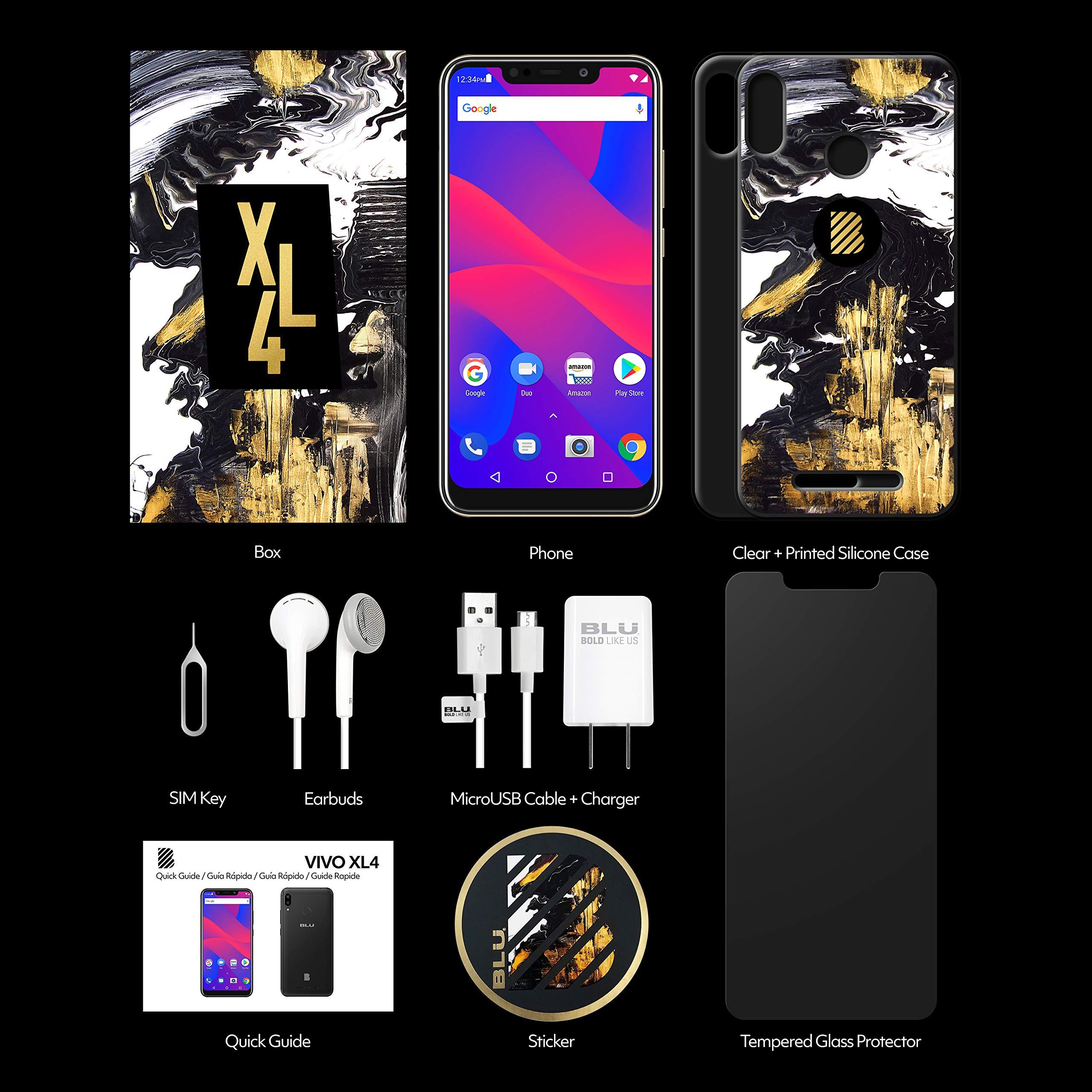 "BLU VIVO XL4 – 6.2"" HD Display Smartphone, 32GB+3GB RAM –Gold by BLU (Image #7)"
