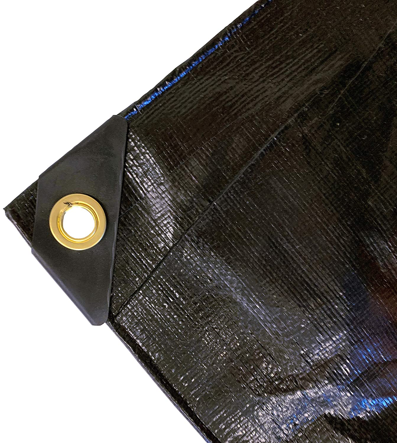 Heavy Duty 6 Oz Black Poly Tarp 11-12 Mil Thick 16 Ft X 20 Ft
