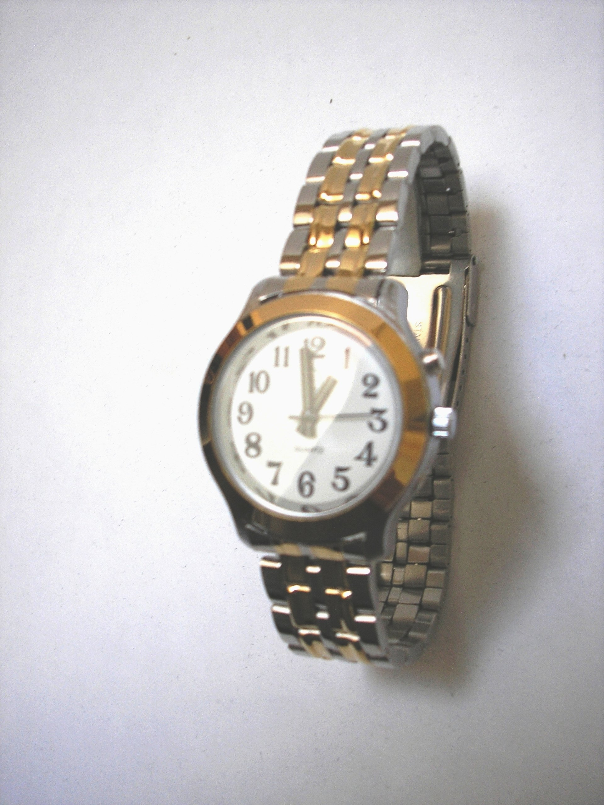 Men's Deluxe Talking Wrist Watch Two Tone for the Blind and Low Vision