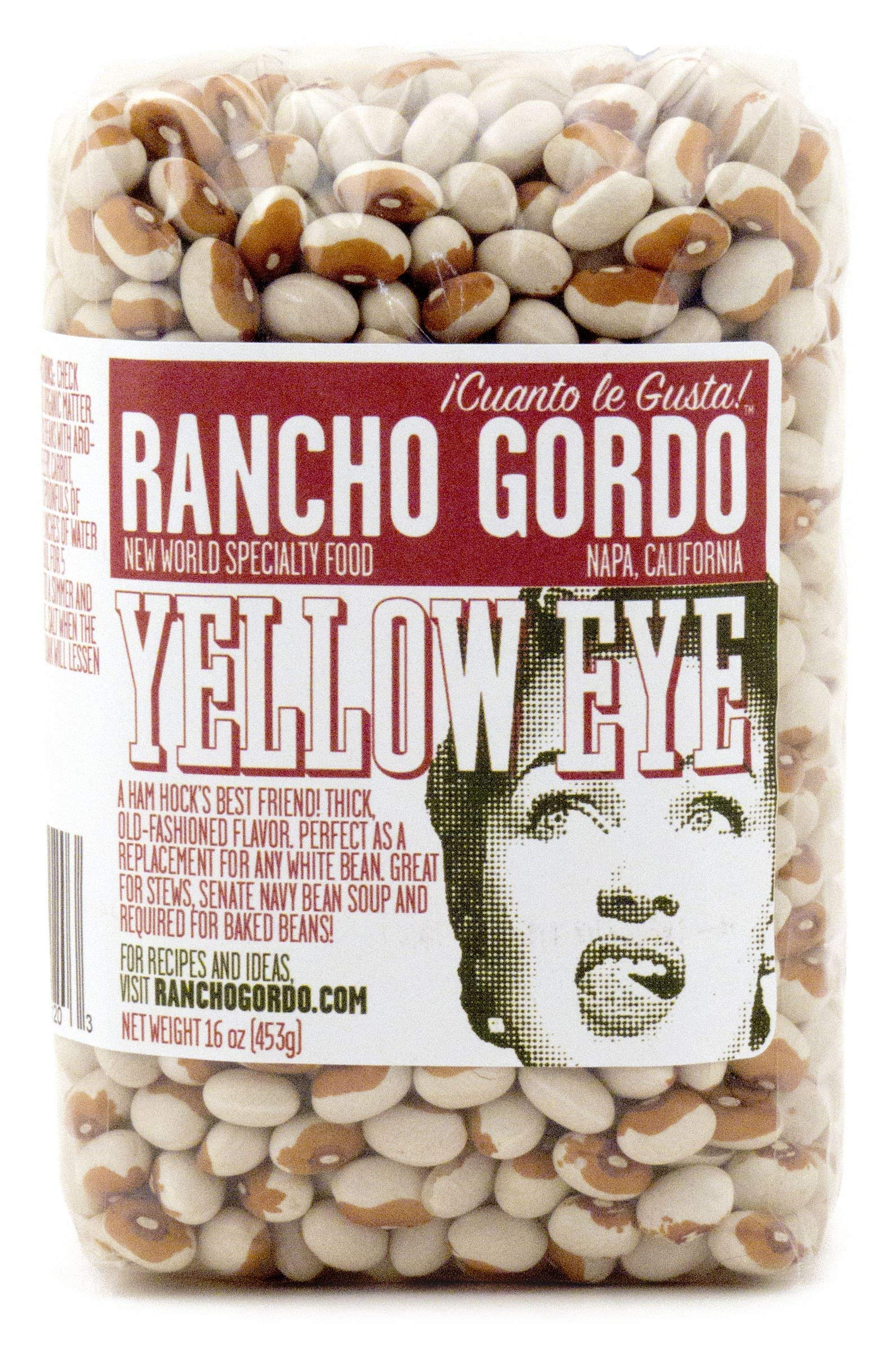 Rancho Gordo Heirloom Yellow Eye Beans, 16 oz