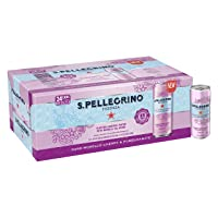 S.Pellegrino Essenza Dark Morello Cherry & Pomegranate Flavored Mineral Water, 11.15...
