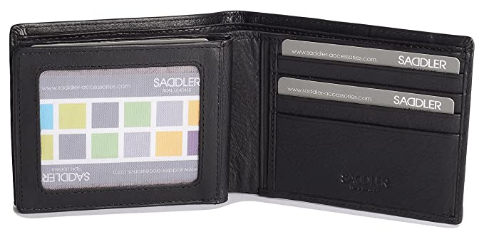 6a6f233f13 SADDLER Soft Nappa Leather 2 Section 12 Credit Card Billfold with ...