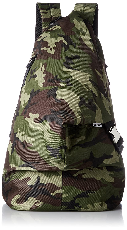 [レジスタ] ナイロン トライアングル リュック タブレットポケット付き A4対応 メンズ レディース 男女兼用 口折れリュック 黒 グレー 迷彩 4カラー 537 B071JL5C2H カモフラージュ カモフラージュ