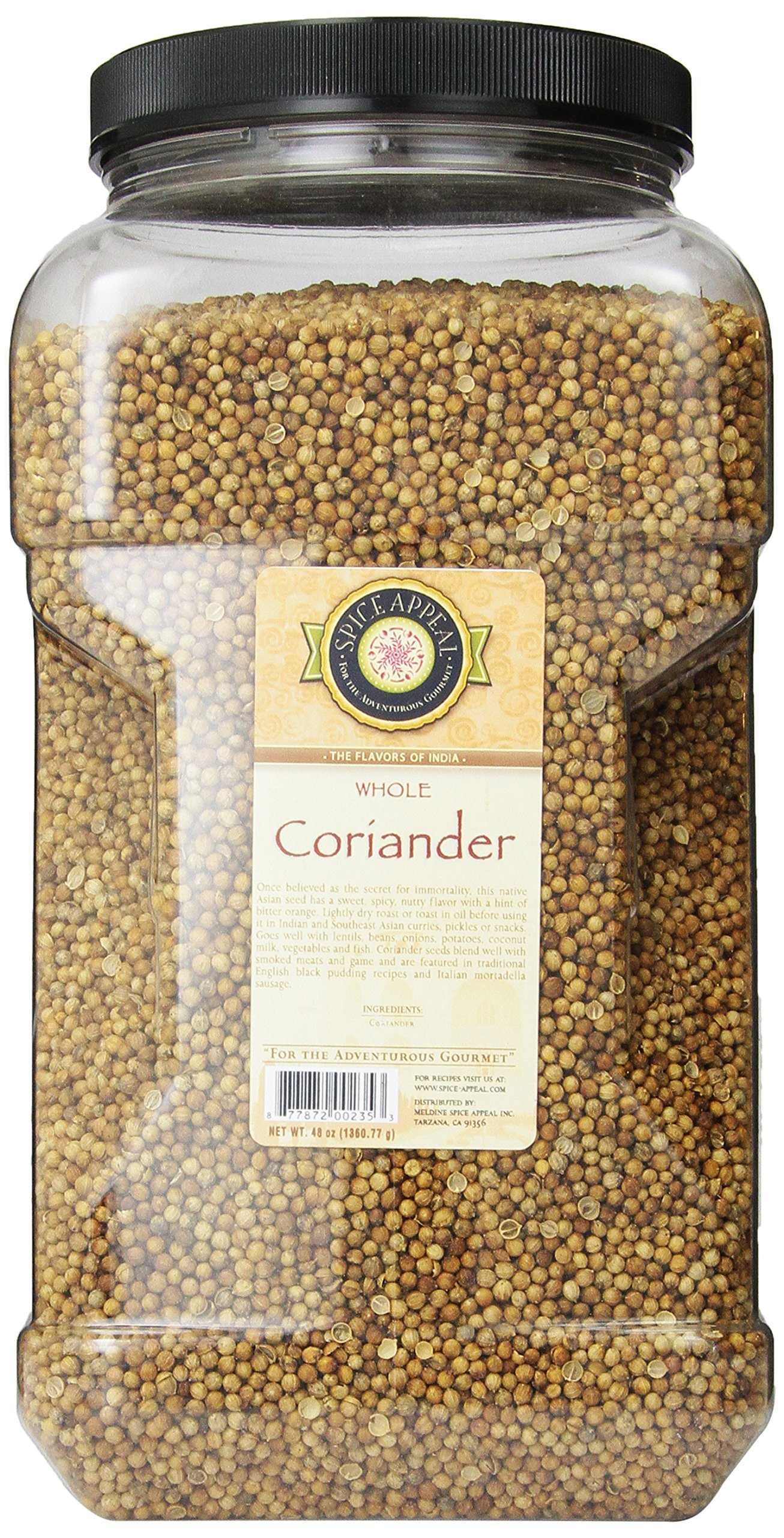 Spice Appeal Coriander Whole, 3 lbs