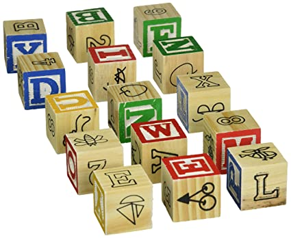 Amazon.com: Fun with Letters ABC 15 Wood Blocks Classic Learning