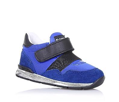 c6e29959be01 FALCOTTO - Blauer und schwarzer Schuh aus Leder, Stoff und Wildleder ...