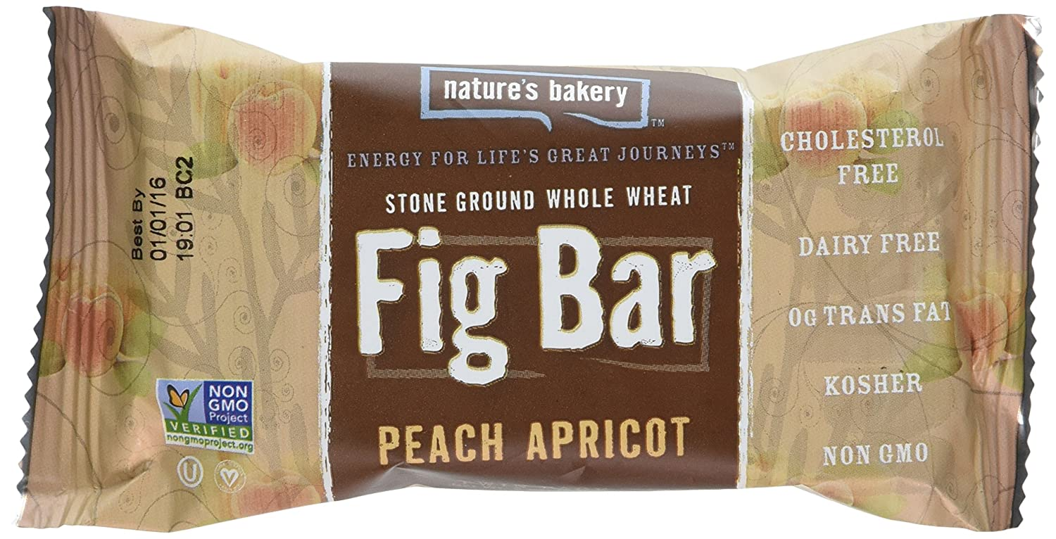 Nature's Bakery Whole Wheat Fig Bar, Peach Apricot, 2 oz (Pack of 12)