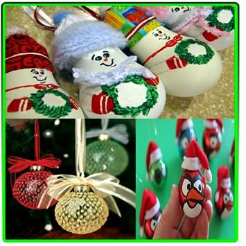 easy and homemade christmas ornaments - Easy Homemade Christmas Decorations