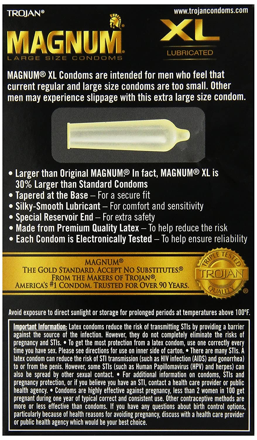 Amazon trojan magnum xl lubricated condoms 12 count paradise amazon trojan magnum xl lubricated condoms 12 count paradise products health personal care sciox Gallery