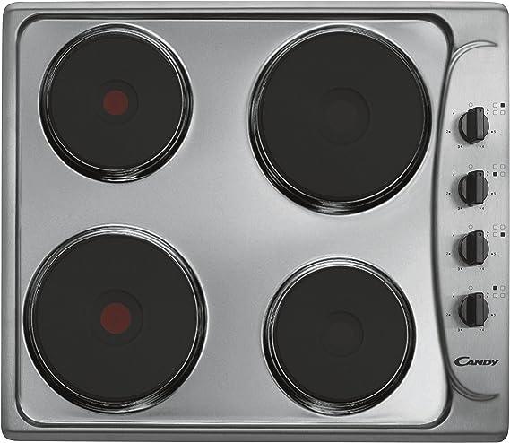 Candy PLE 64 Integrado Hornillo eléctrico / - Placa (Integrado, Hornillo eléctrico/Placa eléctrica, Acero inoxidable, 1500 W, 2000 W, Giratorio)